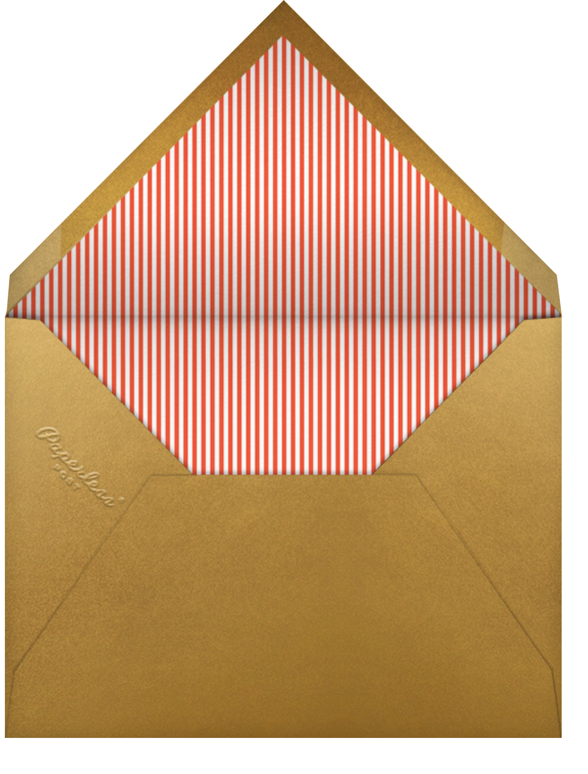 Frosted Village - Paperless Post - Christmas party - envelope back