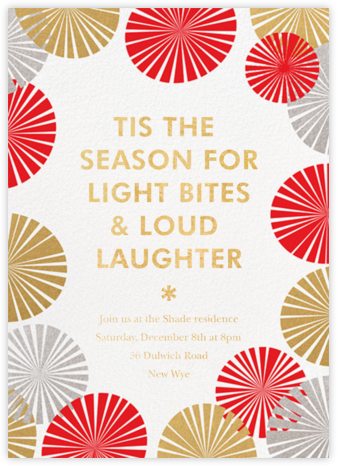 Party Fans - White - Paperless Post - Invitations