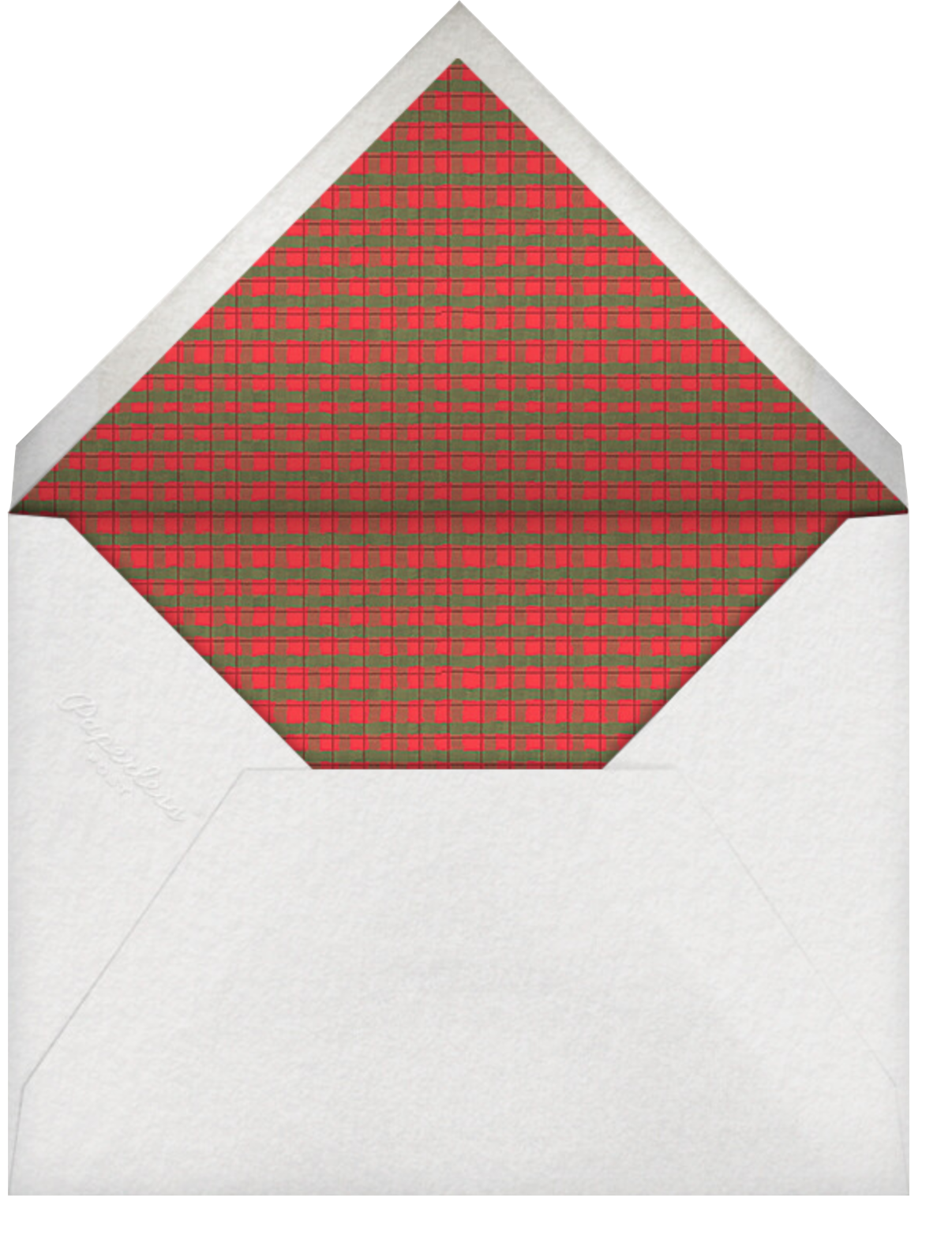 Plaid Wreath - Paperless Post - Christmas party - envelope back