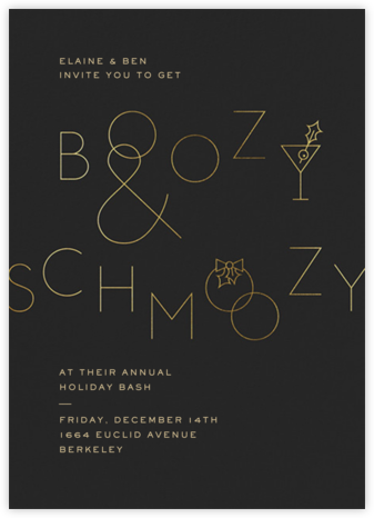 Boozy and Schmoozy - Caviar - Paperless Post - Holiday party invitations