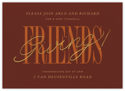 Thankful Friendsgiving - Paperless Post - Thanksgiving invitations