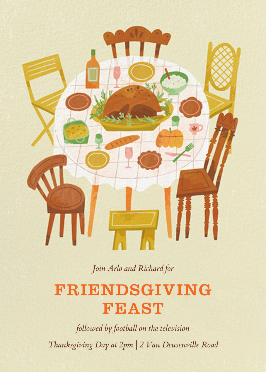 Dig In - Paperless Post - Thanksgiving invitations