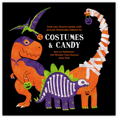 Dino Dress Up - Paperless Post - Halloween invitations