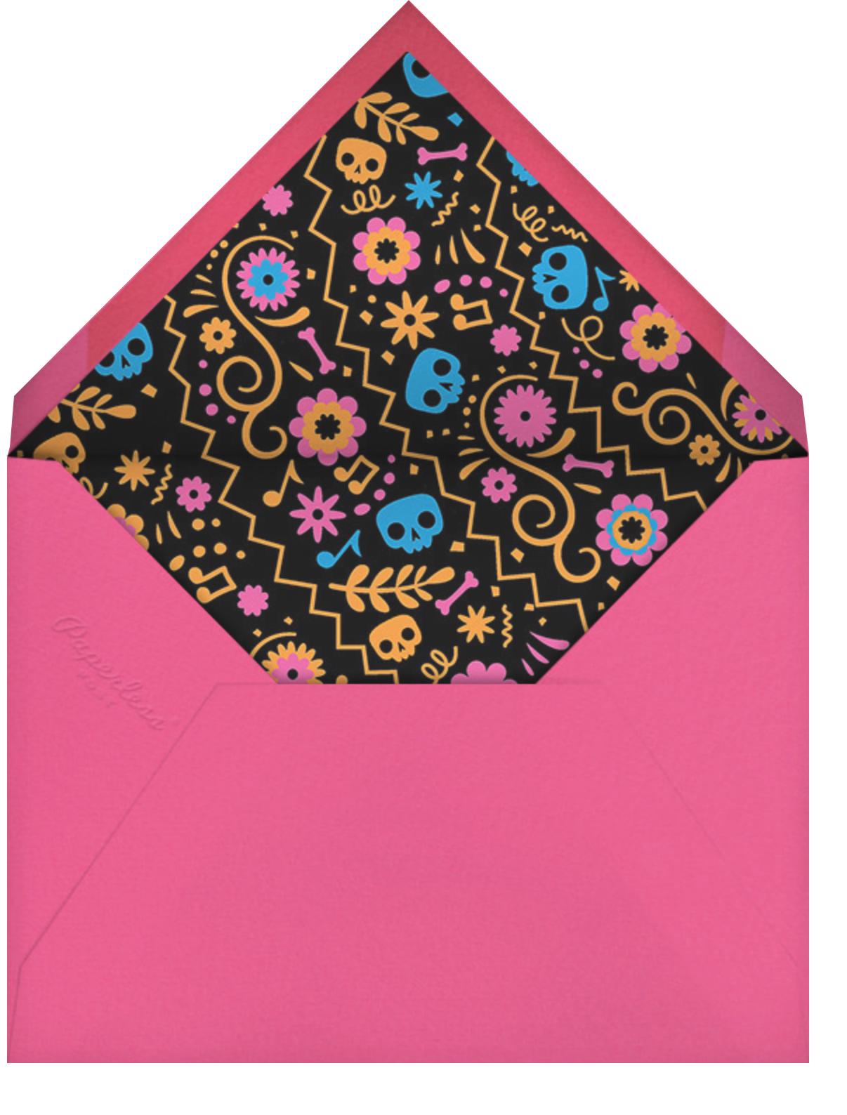 Magic Guitar - Black - Paperless Post - Halloween - envelope back