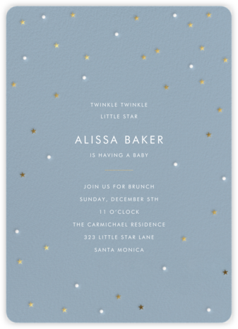 Tiny Stars - Sugar Paper - Online Baby Shower Invitations