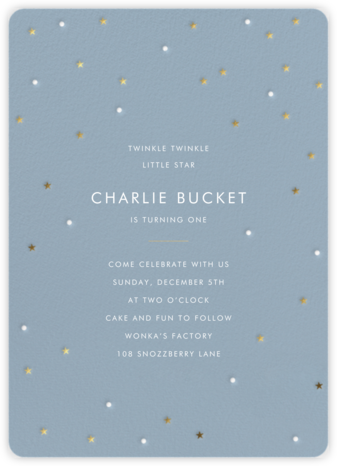 Tiny Stars - Sugar Paper - Birthday invitations
