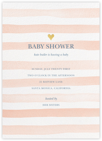 Light Stripes - Sherbet - Sugar Paper - Baby Shower Invitations