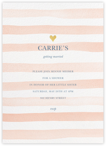 Light Stripes - Sherbet - Sugar Paper - Bridal shower invitations