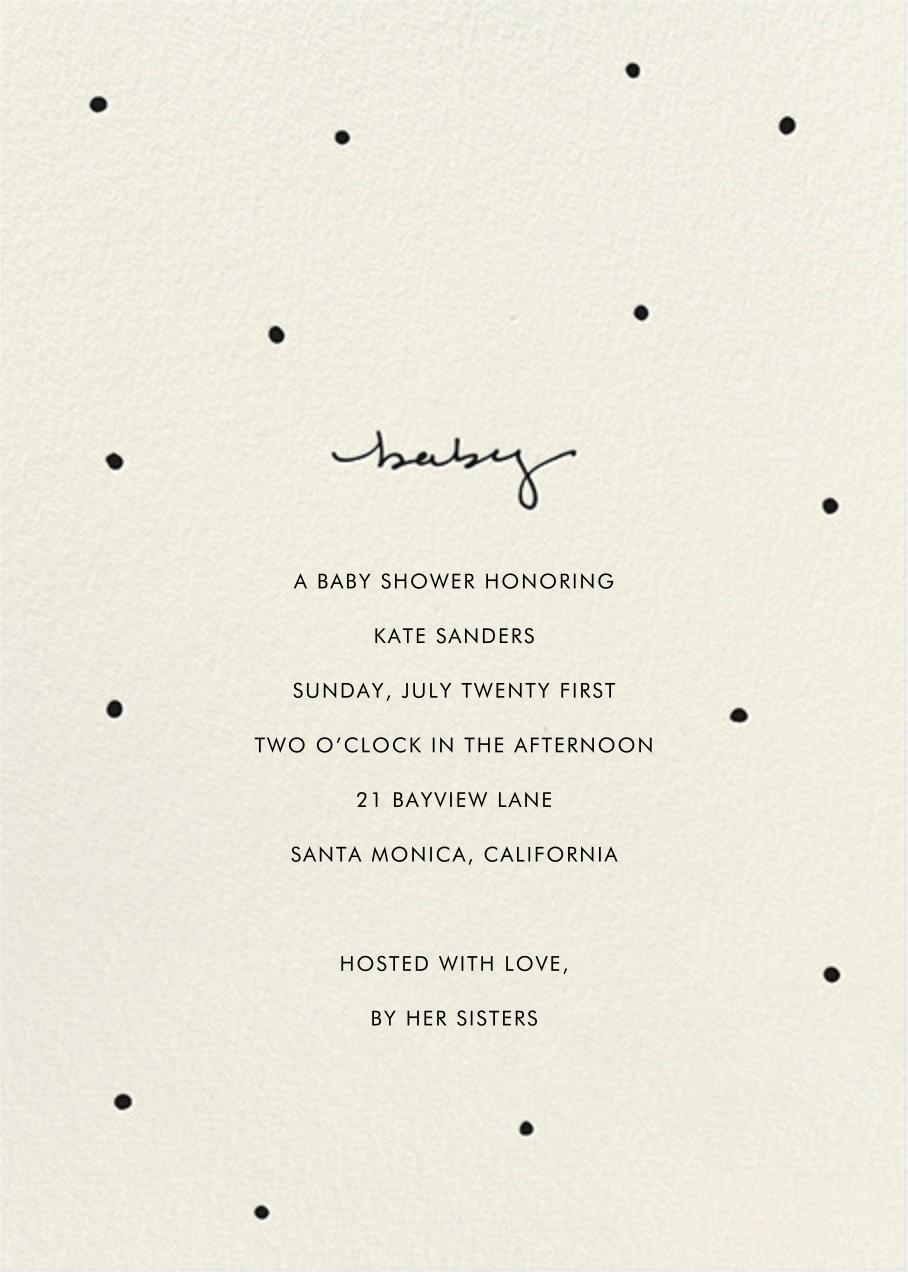 Baby Dots - Sugar Paper - Celebration invitations