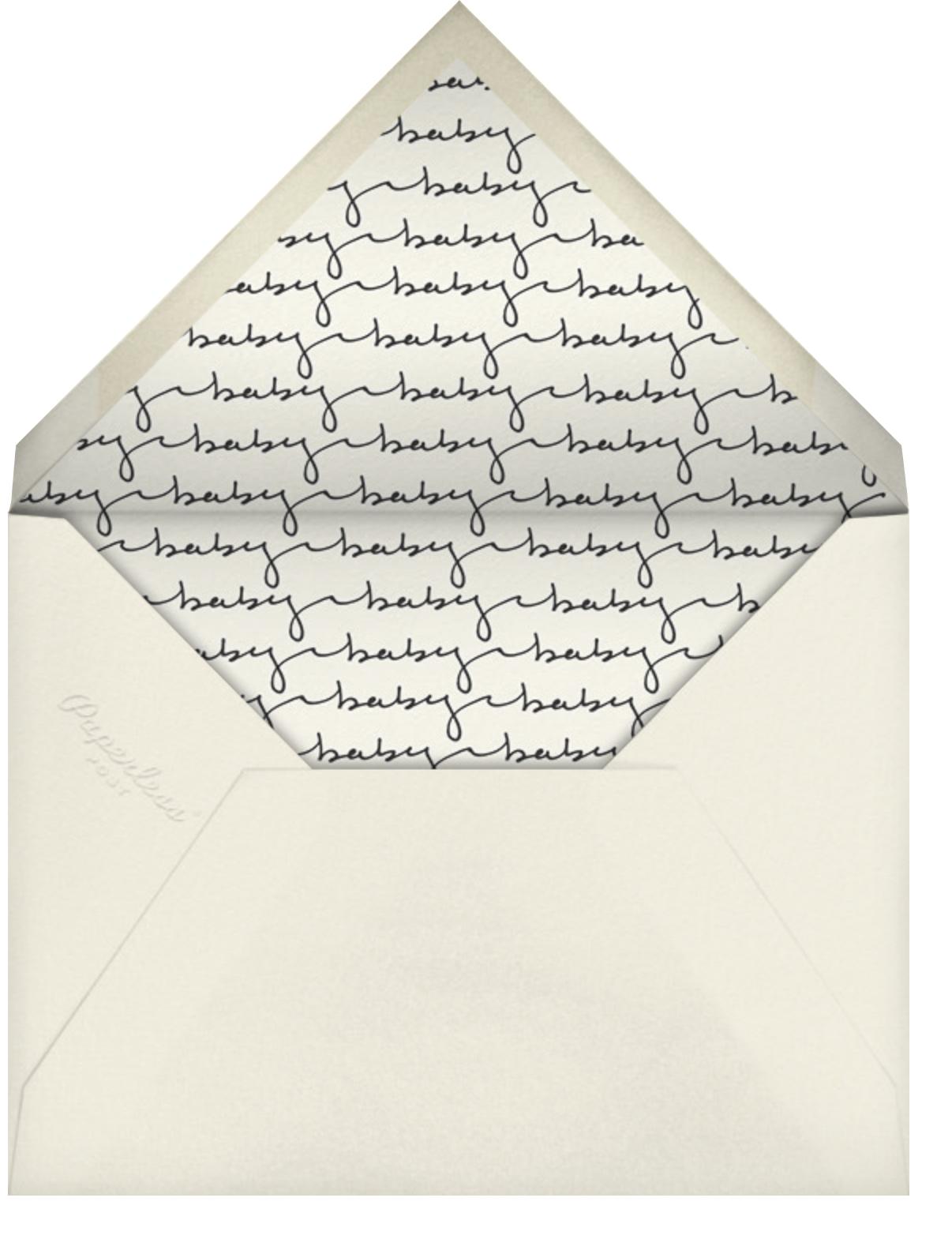 Baby Dots - Sugar Paper - Baby shower - envelope back