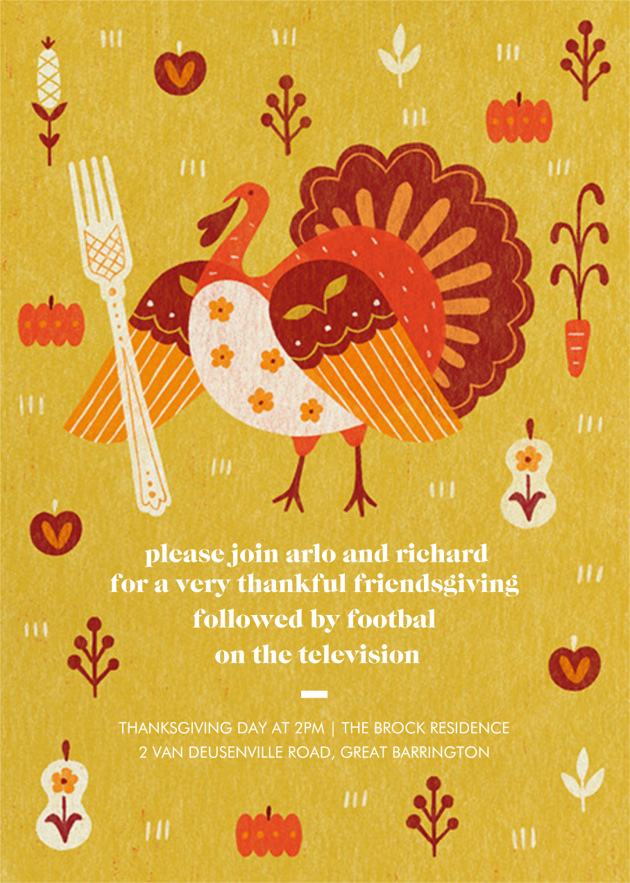 Big Fork - Paperless Post - Thanksgiving invitations