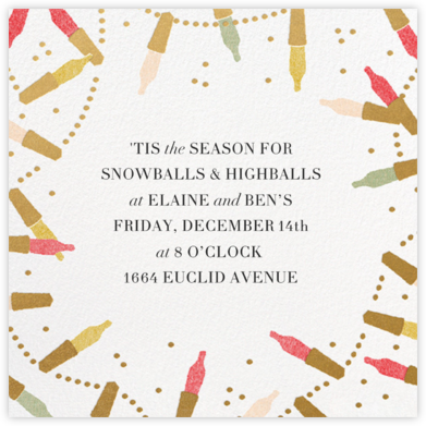 Golden Lights - White - Paperless Post - Holiday invitations