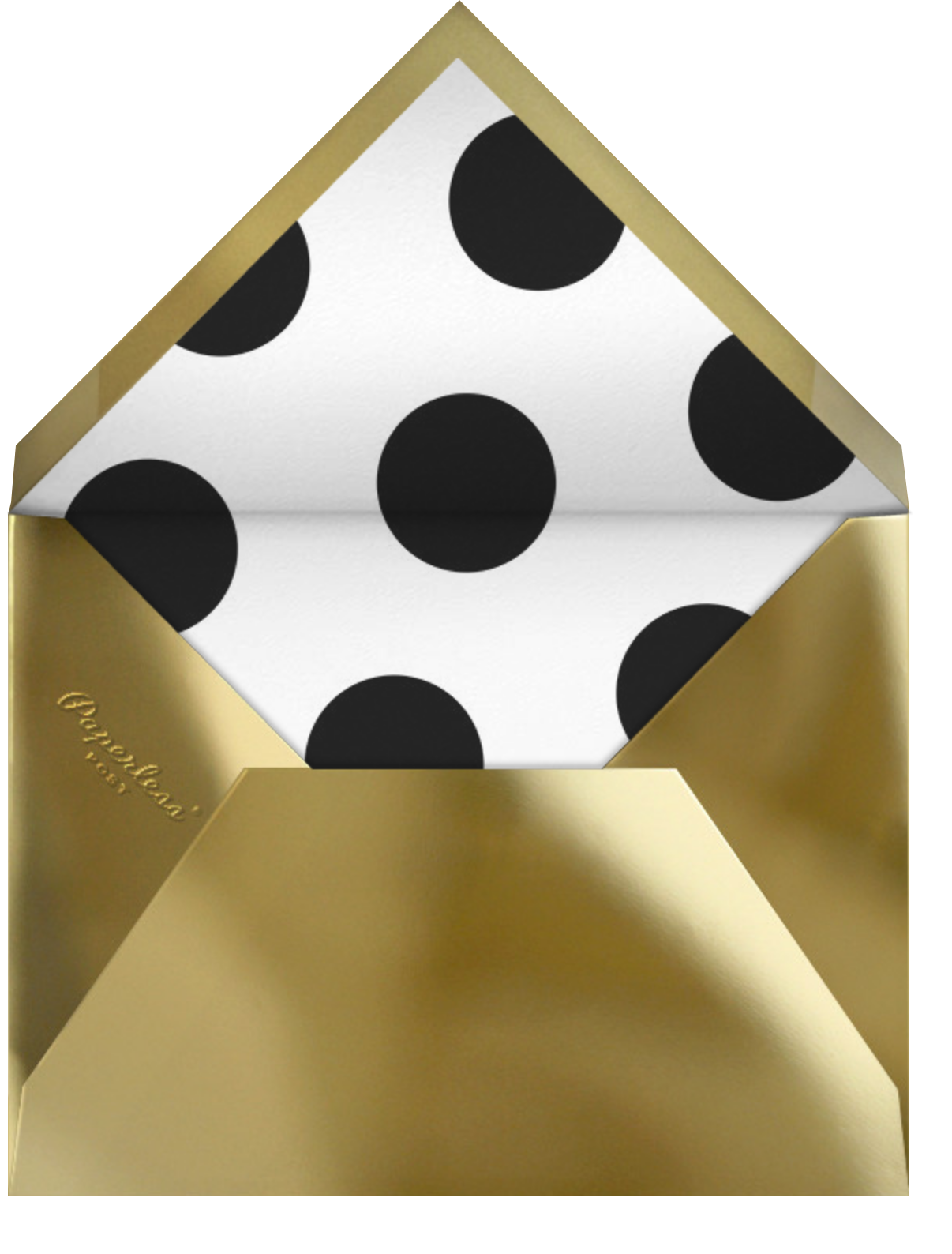 Jumbo Confetti - Gold/Black - Paperless Post - Company holiday cards - envelope back