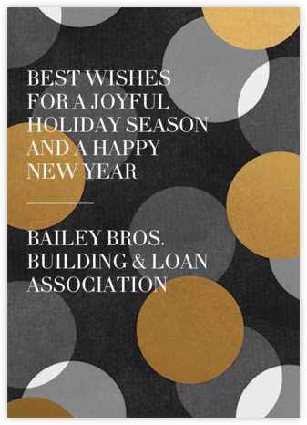 Jumbo Confetti - Gold/Black - Paperless Post - Business holiday cards
