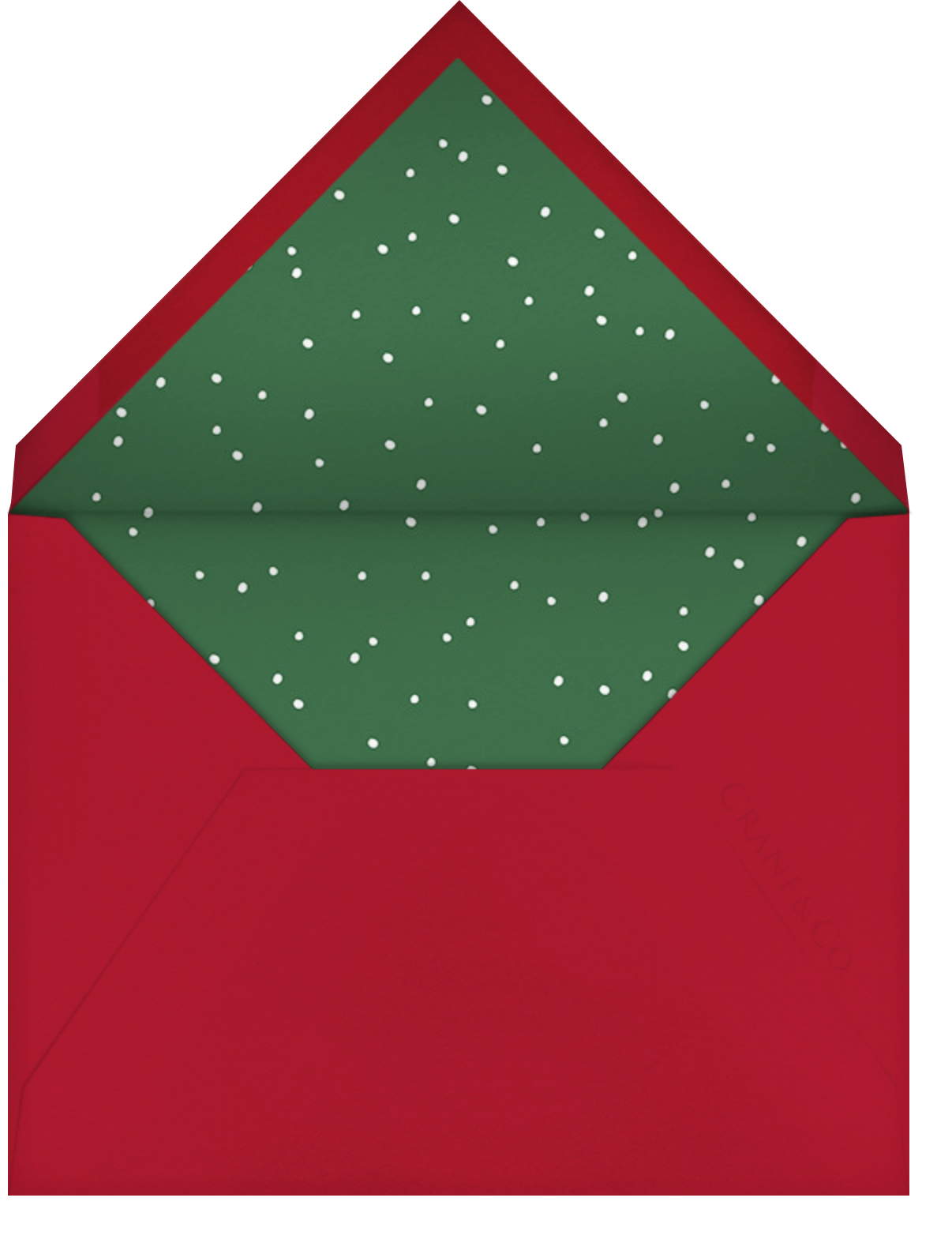 Merry Ornaments - Paperless Post - Christmas party - envelope back