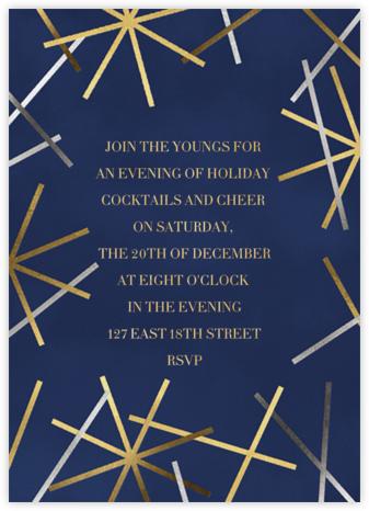 Snowflake Confetti - Dark Blue - Paperless Post - Holiday invitations