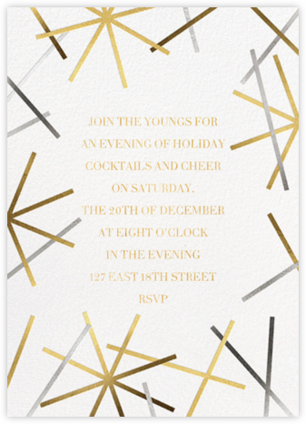 Snowflake Confetti - White - Paperless Post - Holiday party invitations