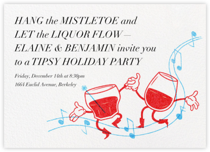 Dancing Drinks - Paperless Post - Holiday party invitations
