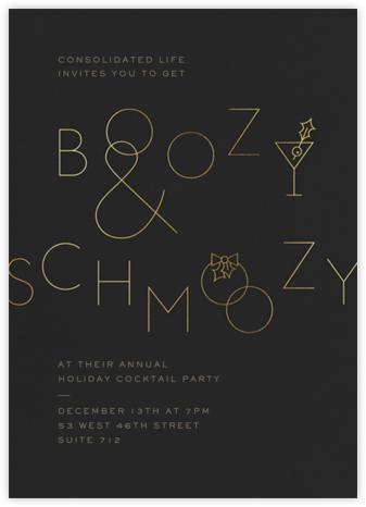 Boozy and Schmoozy - Caviar - Paperless Post - Company holiday party