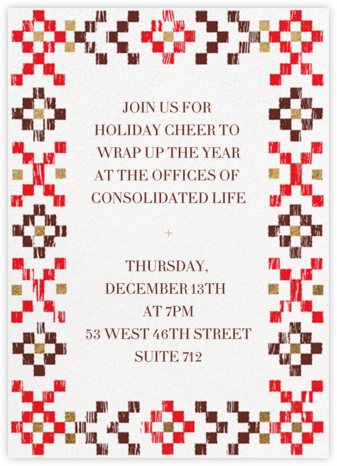 Warm Woodblock - Paperless Post - Company holiday party