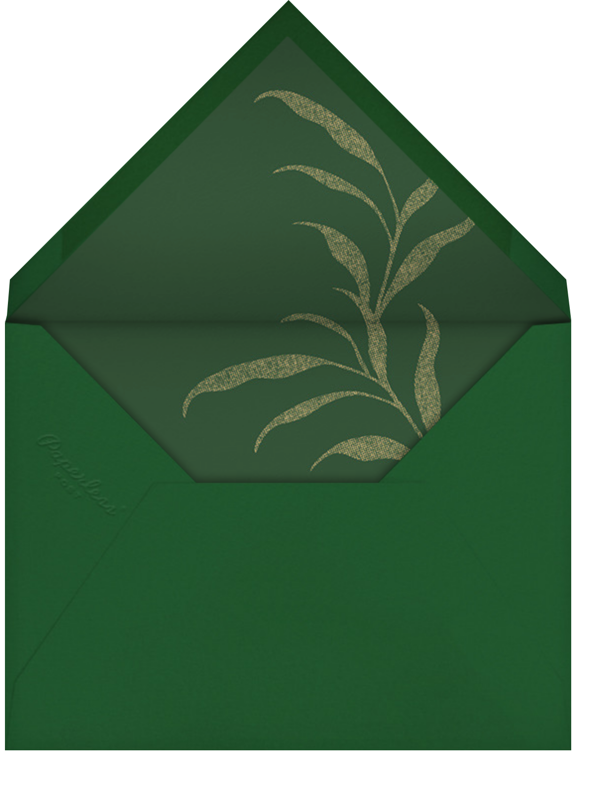 Red and Greenery - Paperless Post - Holiday party - envelope back