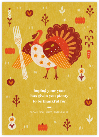 Big Fork - Paperless Post - Thanksgiving Cards