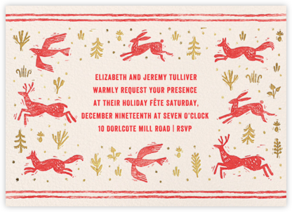 Winter Chase - Red - Paperless Post - Holiday invitations