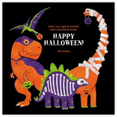Dino Dress Up - Paperless Post - Halloween cards