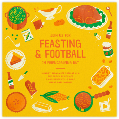Football Friendsgiving - Paperless Post - Thanksgiving invitations