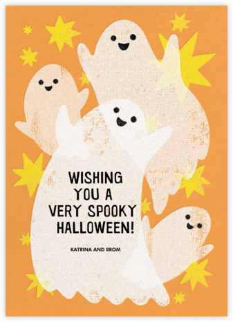 Glowing Ghosts - Paperless Post - Halloween Cards