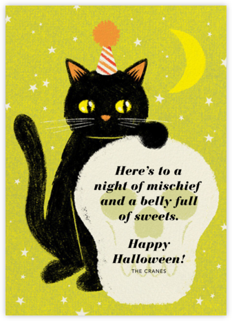 Black Cat - Paperless Post - Halloween cards