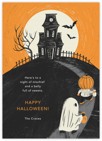 House on a Hill - Paperless Post - Halloween cards