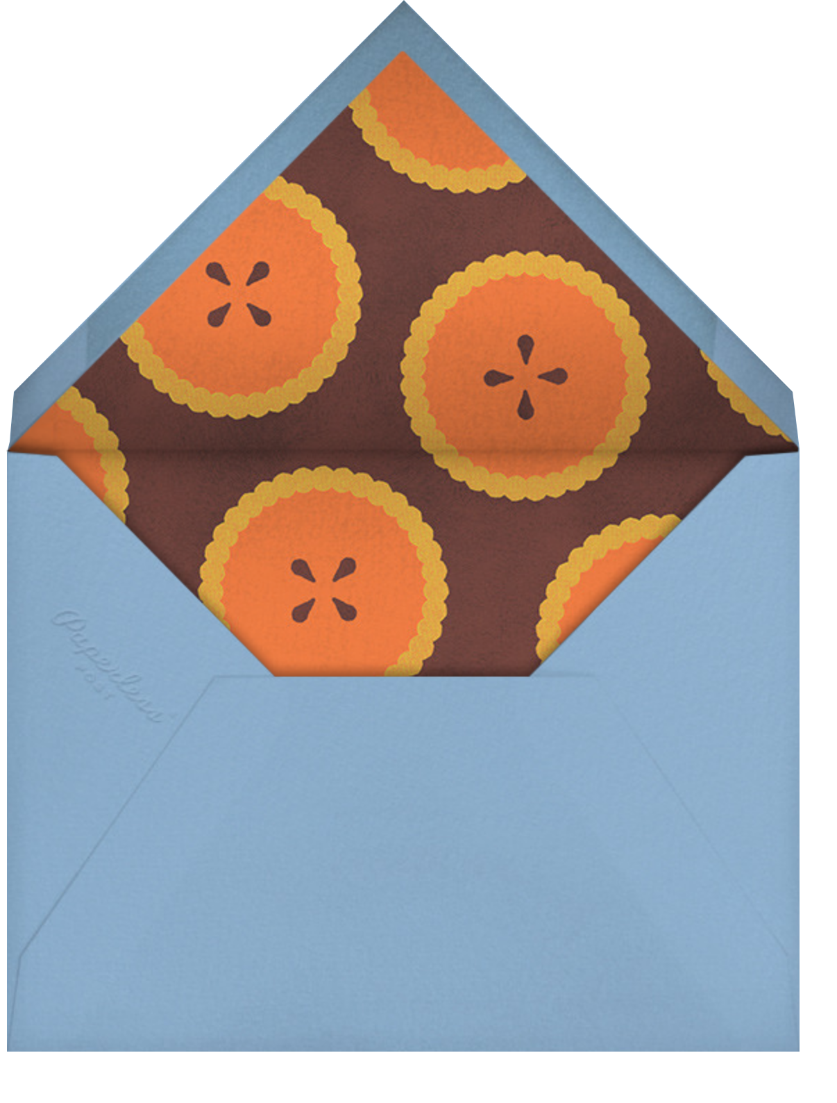 Quirky Turkey - Paperless Post - Thanksgiving - envelope back