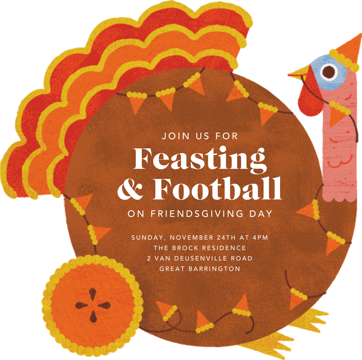 Quirky Turkey - Paperless Post - Thanksgiving invitations