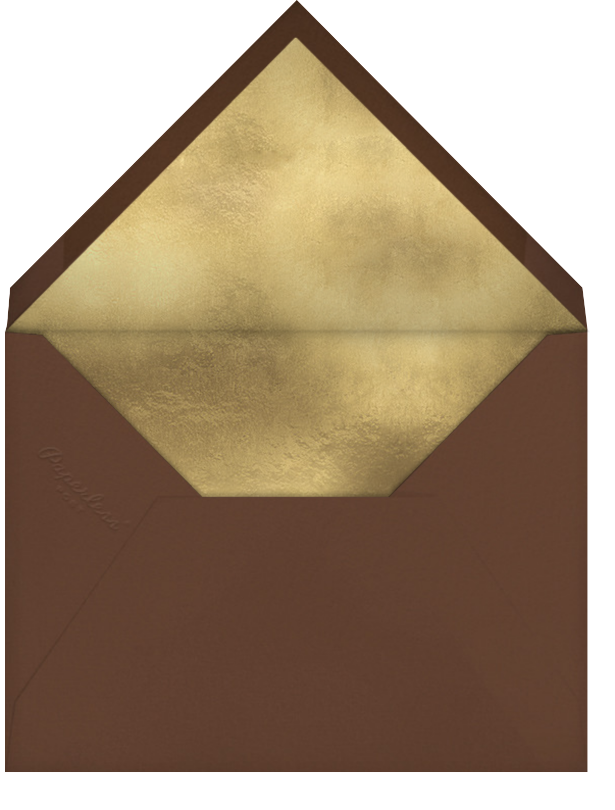 Foil Foliage - Paperless Post - Thanksgiving - envelope back