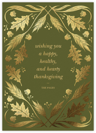 Foil Foliage - Paperless Post - Thanksgiving Cards
