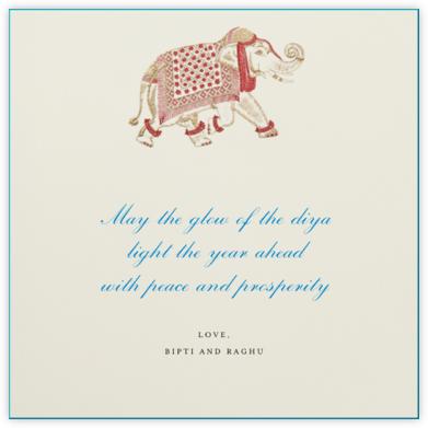 Engraved Elephant - Bernard Maisner - Holiday cards