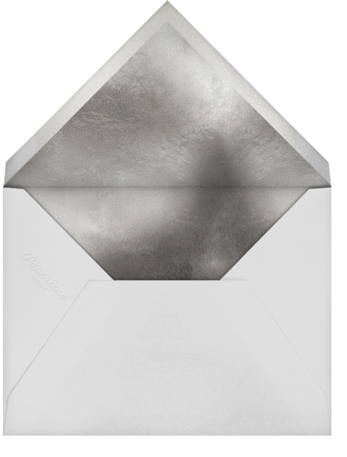 Snowflake Confetti - White - Paperless Post - Company holiday party - envelope back
