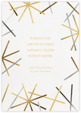 Snowflake Confetti - White - Paperless Post - Holiday Cards