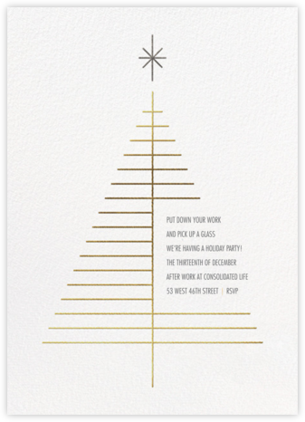 Tree Topper - White - Paperless Post - Company holiday party