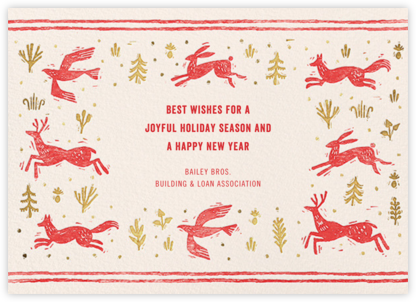 Winter Chase - Red - Paperless Post - Holiday Cards