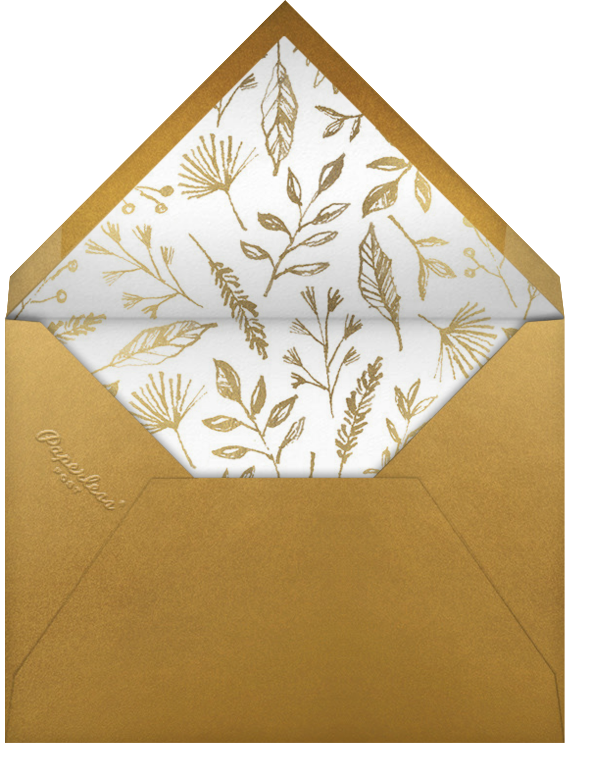 Watercolor Turkey - Paperless Post - Thanksgiving - envelope back