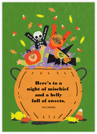 Candy Cauldron - Paperless Post - Halloween cards