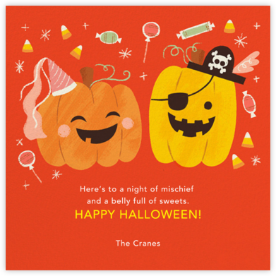 Party Pumpkins - Paperless Post - Halloween cards