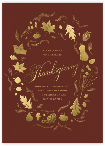 Golden Harvest - Paperless Post - Thanksgiving invitations