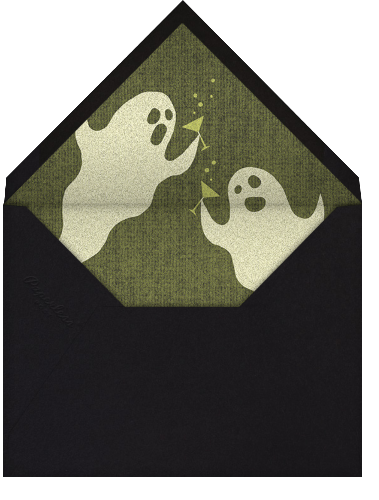 Ghost Without Saying - Paperless Post - Halloween - envelope back