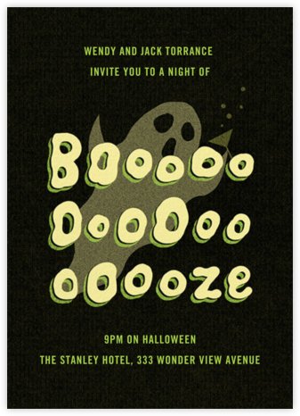 Ghost Without Saying - Paperless Post - Online Party Invitations