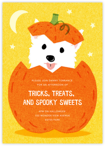 Pup-o'-Lantern - Paperless Post - Online Party Invitations