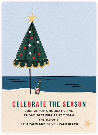 On Holiday (Invitation) - Cheree Berry - Holiday invitations
