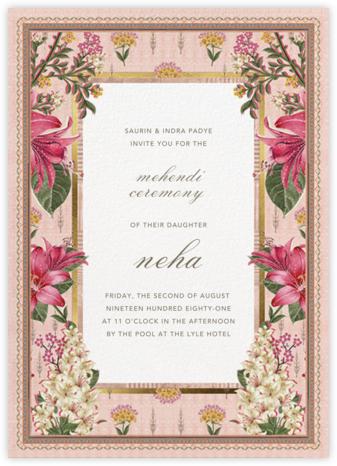 Keyuri (Mehendi) - Anita Dongre - Wedding Invitations